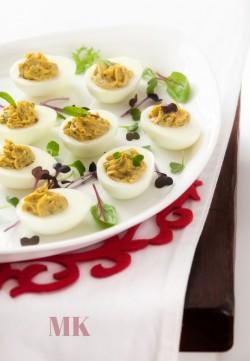 jajka faszerowane ze szprotkami