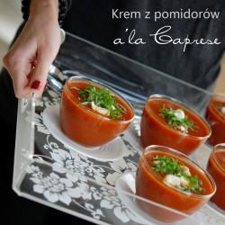 krem z pomidorów a'la caprese