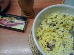Pasta jajeczna z anchois!