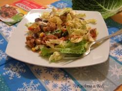 Sałatka z kapusty włoskiej i gyros z kurczaka