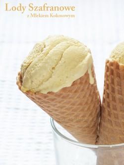 Lody Szafranowe z Mlekiem Kokosowym