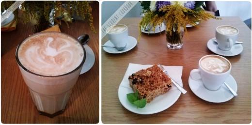 Mocha, cappuccino, ciastko owsiane