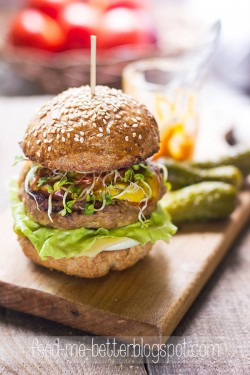 Odchudzone hamburgery (z indyka).
