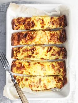 Omlety zapiekane z farszem grzybowym