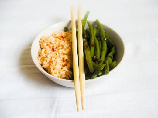 Orientalna fasolka szparagowa