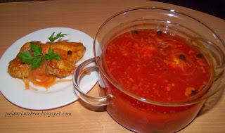 Skrzydełka w zalewie octowo-pomidorowej