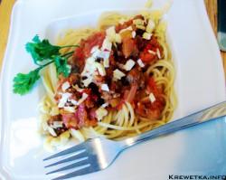 Paprykowe spaghetti