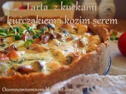 Pełnoziarnista tarta z kurkami, kurczakiem i kozim serem – najlepsza! :)