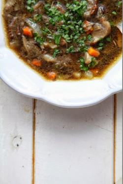 Świeża zupa grzybowa prawdziwkowa