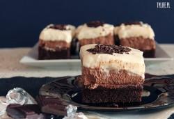 Potrójne musy czekoladowe
