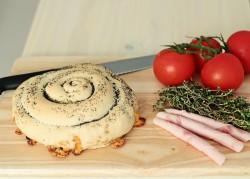 ser, wędlina, tymianek w pieczywie BEZ MĄKI zostały schowane