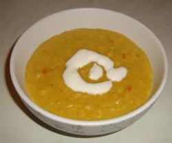Zupa-krem z dyni bez użycia blendera