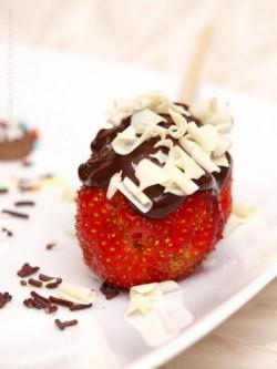 Sierpniowe truskawki W czekoladzie