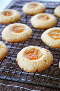 Ciasteczka z oczkiem pomarańczowo-imbirowym