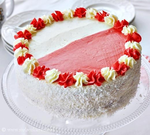 tort bialo czerowny