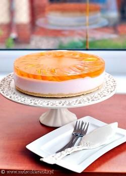 tort szampanski z brzoskwiniami