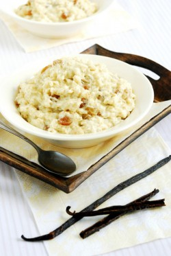 Waniliowy ryż z rodzynkami