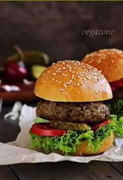 wegetariański hamburger