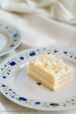 White Opera Cake