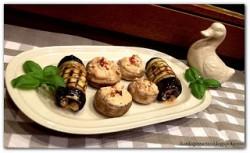 Antipasti z bakłażana i pieczarek