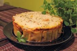 Tort cannelloni z mięsem mielonym i groszkiem
