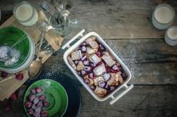 Zapiekane tosty francuskie z malinami