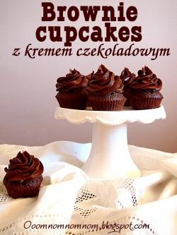 Brownie cupcakes z kremem czekoladowym