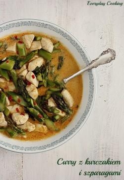 Curry z kurczakiem i szparagami