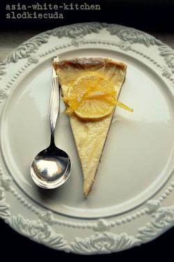 Cytrynowa tarta z kardamonem i mascarpone
