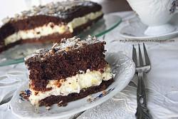 Czekoladowe ciasto z dynia i kremem