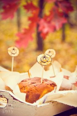 Muffiny wytrawne z dyni i sera koziego