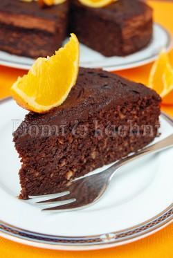 Pomarańczowe ciasto kakaowe bez mąki