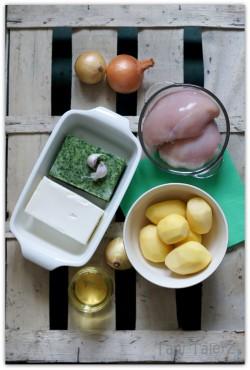 Roladki ze szpinakiem i fetą z frytkami domowej roboty