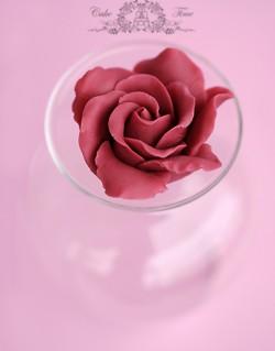 roza z sugarpaste