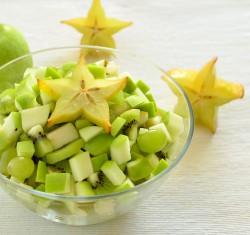 Sałatka – zielony mix owocowy