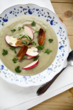 selerowo-jabłkowa zupa z wasabi