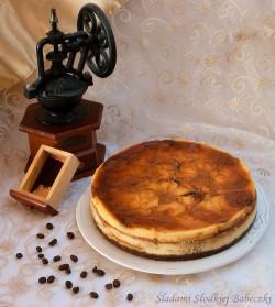 Sernik kawowy słodkiej babeczki