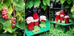 Sok z winogron z cynamonem