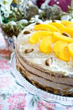 Tort brzoskwiniowy, migdałowy