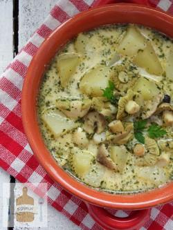 Zupa z zielonych gąsek