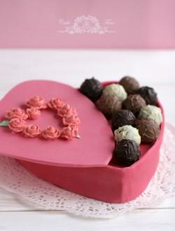 Ciasto pudełko czekoladek
