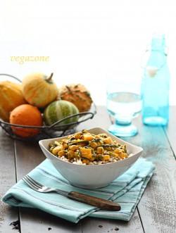 curry z dyni ze szpinakiem