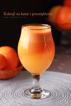 Koktajl marchewkowo-pomarańczowy, na katar i przeziębienie | Moja Delicja