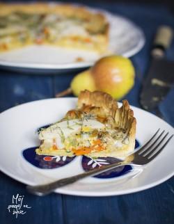 Quiche z gruszką marchewką i pietruszką z tymiankiem i gorgonzolą2 – a