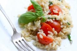 risotto z pomidorkami