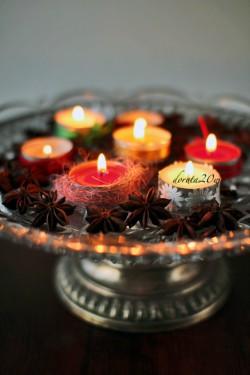 Świąteczne dekoracje stołu