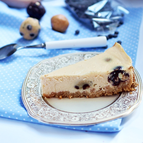 cookie dough mosaic cheesecake