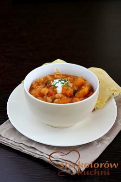 Curry dyniowe z pomidorami