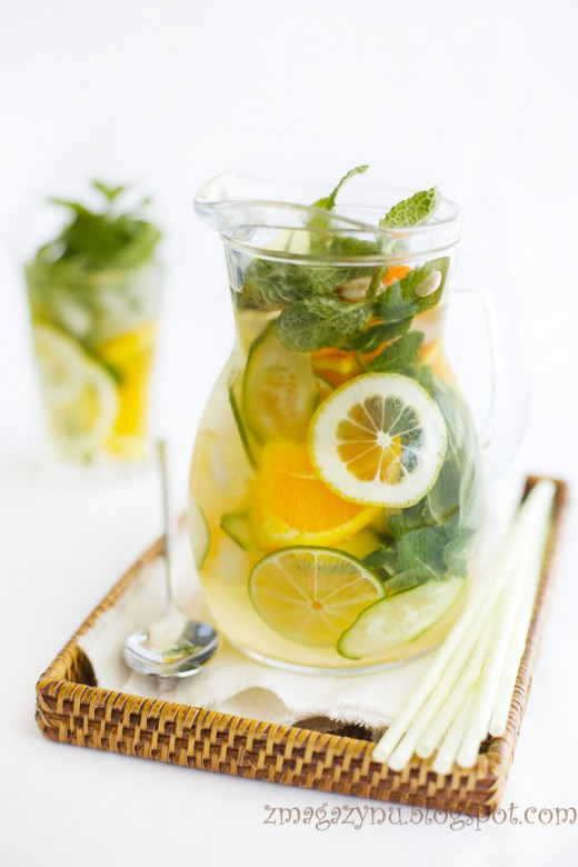 Cytrusy, zioła i lemoniada