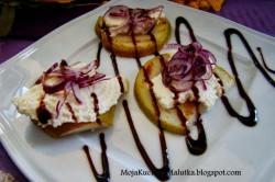 Grillowane gruszki z serem capreggio